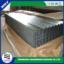 full hard regular spangle quality corrugated sheet Z40 for Prefabricated house