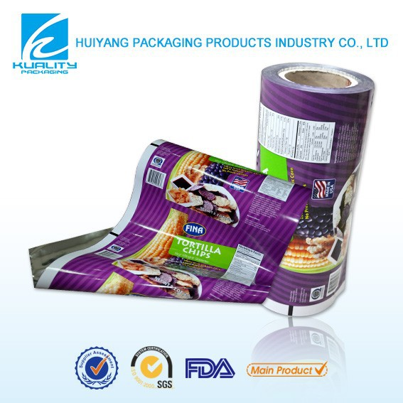Safty food grade plastic color printing metallized aluminum foil pet film