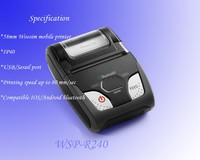 2 inch handheld mobile thermal bluetooth printer WSP-R240 for Ipad