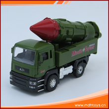 Pull back military missile car 1:32 die cast scale models with battery