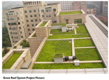 Green roof building construction materials