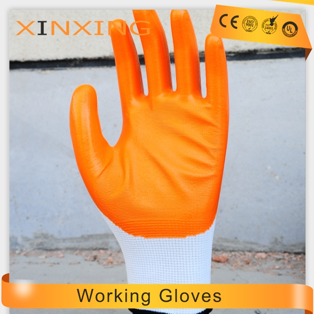 Wholesale PPE cut resistant suppliers Nylon Nitrile coated working safety nitrile glove china manufacturer