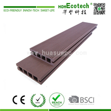 Cheap hollow dark coffee color plastic composite WPC board