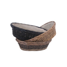 Customized cheap corner wicker bread basket