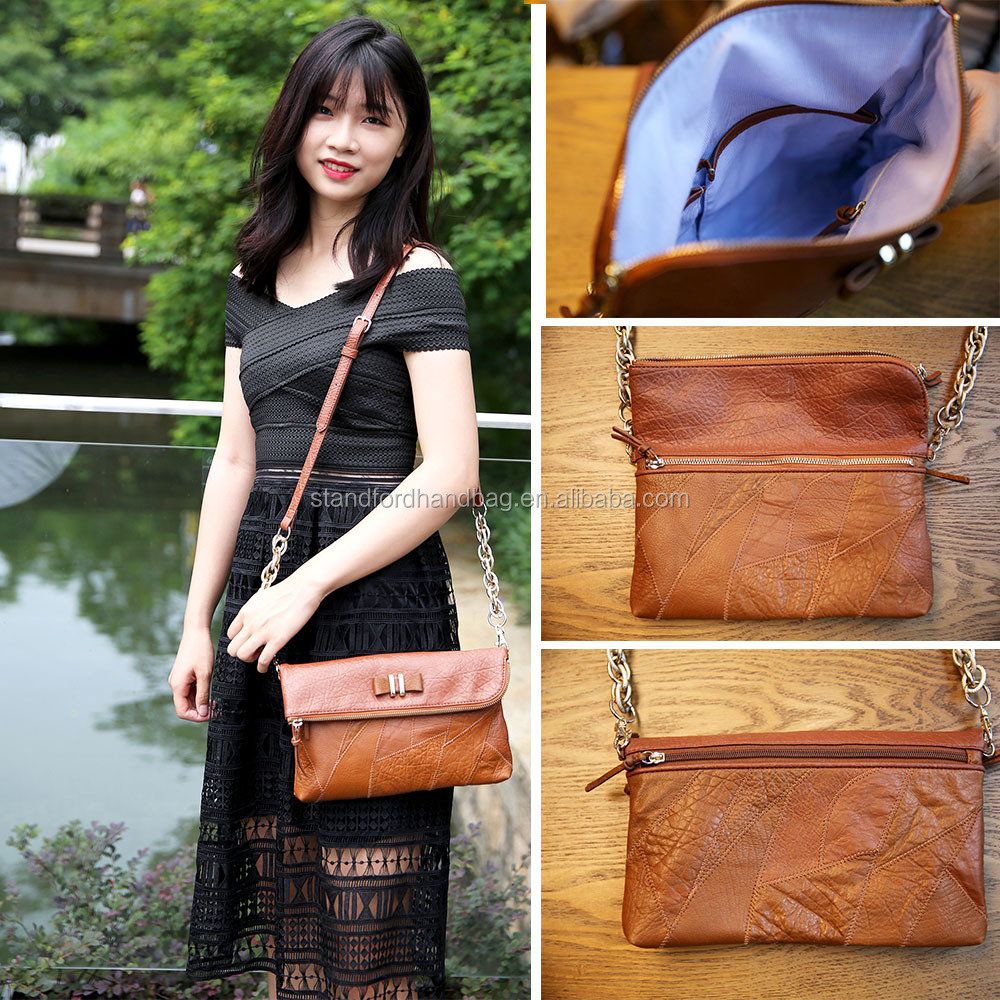 Hand Made 2016 Classic U.S. Fashion Handbag Women Shoulder Bag Lady Crossbody Bag from China Leather Bag Manufacturer