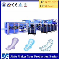 Fujian Quanzhou Frequency control semi automatic women sanitary pads making machine