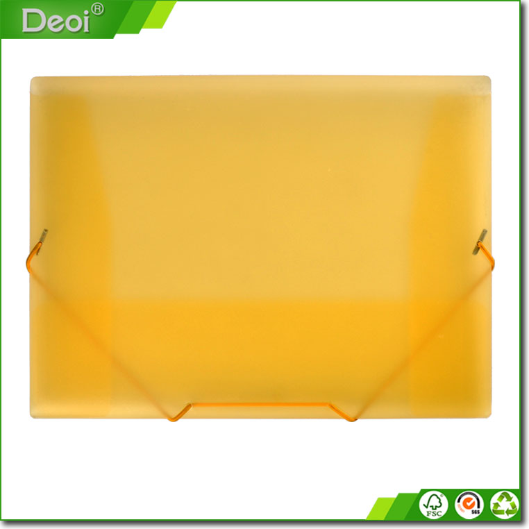 Plastic filing case a4 size PP Elastic Band Filing Document Boxes file folder for office stationery