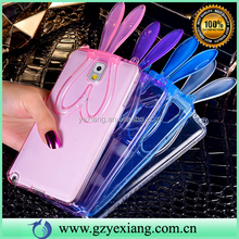 Rabbit Ear TPU Soft Back Cover For Samsung Galaxy Note 3 Cute Case