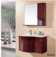 Bathroom Wooden Design Cabinet Basin nature dark Oak Cabinet DC3576