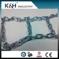 high quality galvanized snow chains for shoes Dia 2mm