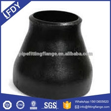 ASME butt welded 304 / 316 carbon steel reducer pipe fitting