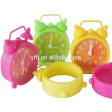 Silicone mini desk table alarm clock for gifts