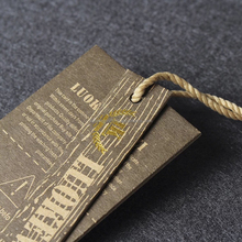 China high quality garment hang tags for clothing