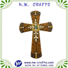 Silver Cross On Brown Crucifix Gift