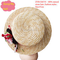 Natural straw festival hat
