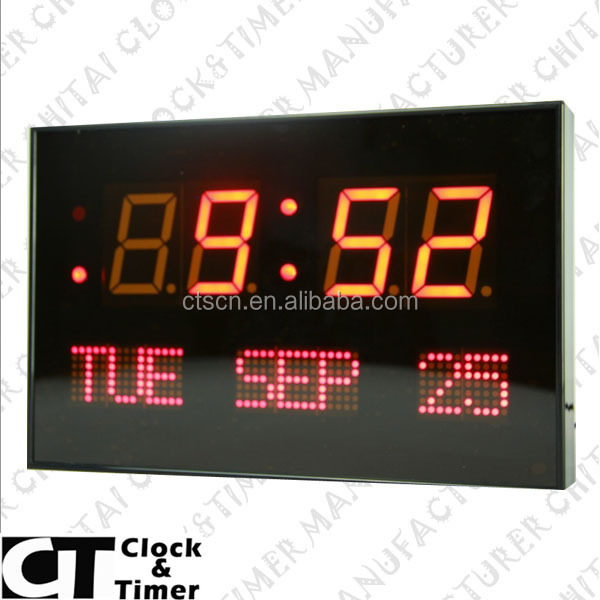 Unique Design High Quality LED Digital Calendar Day Date Time Clock
