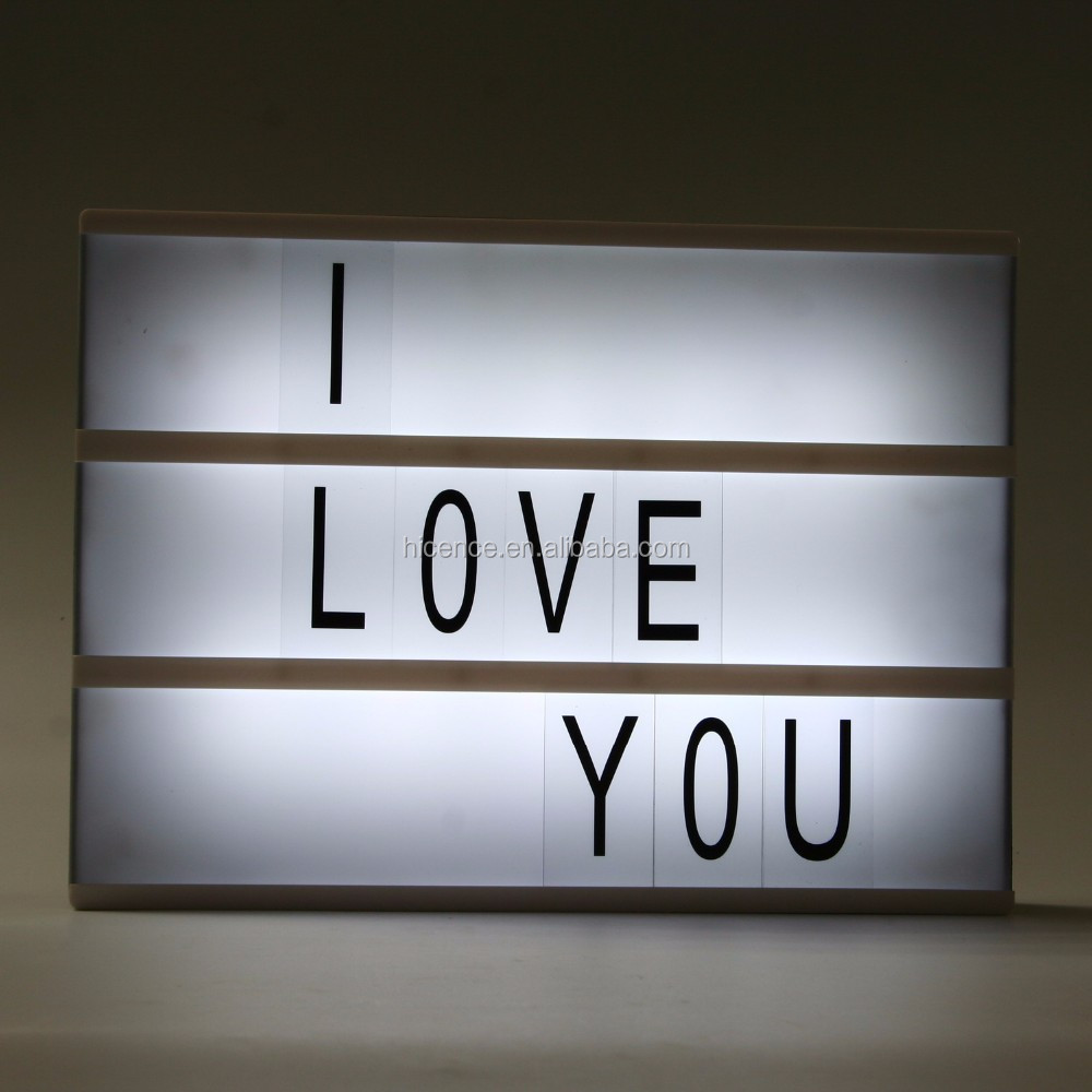 2016 New DIY Letters and Symbols LED Cinematic Light Box