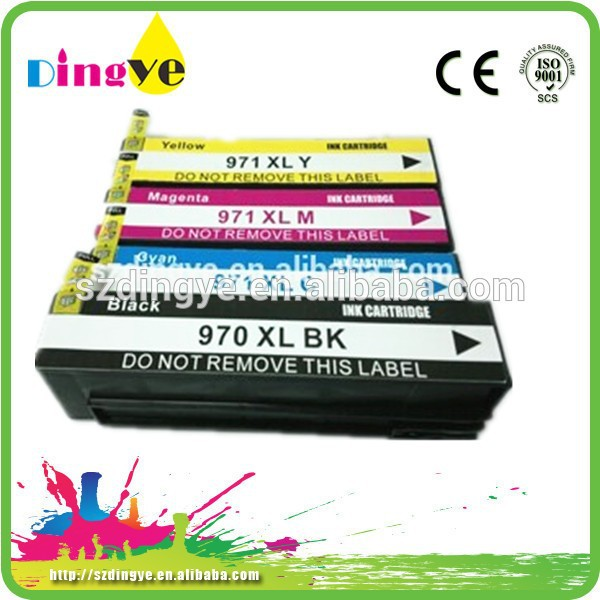 larger capacity recycle refillable empty compatible inkjet cartridge for hp 970 971