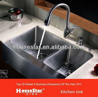 Royal item, 304 handmade stainless steel apron sink, deep stainless steel wash basin--AP3322(50/50)