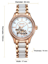 Factory wholesale hollow dial plate sapphire glass ceramic case Lady Watch Japan Automatic Watch