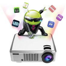New arrive 1080P HD portable LED33-02 3D projector 3000 lumens home theater support Mobile Phone projector