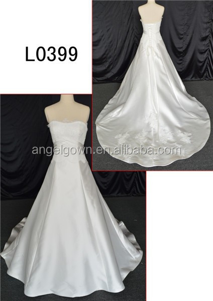 romantic angel silk wedding dress of real picture wedding dress
