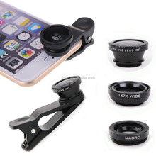 Universal Mobile Phone Lenses 3D mini Lens With Clip Fisheye Stereoscopic Camera Len lentes for iPhone Samsung Camera Tablet