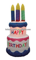 180cmH/6ft Everyday design decoration giant inflatable birthday cake