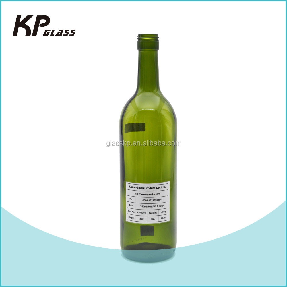 Newest hot sale 75cl screw cap finish flat bottom glass bottle