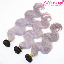 homeage easy color body wave cheap grey human hair weaving