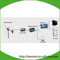 100w/400w off-grid system china low cost small/mini wind turbine/generator