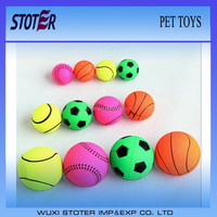 customized rubber ball dog toy
