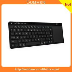 Rii K18 Ultra Slim 2.4GHz Portable Mini Wireless KODI Keyboard With Large Size Touchpad Mouse Stainless Steel Cover