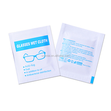 Optical lens/screen/glass cleaning small pack wet wipes