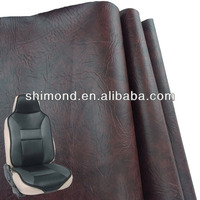 Brown PVC Artificial Synthetic Car Seat Covers Leather