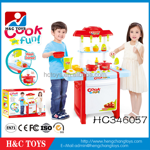 Battery operated toy kitchen set cooking games for girls to play HC346057
