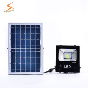 Convenient installation brightest 10w 20w 30w 50w ip66 outdoor integrated led solar flood and spot lights