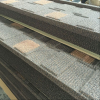 Dingzhen Brand Double Color Shingle Stone Coated Metal Roof Tile