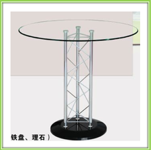 Wholesale high quality glass top marble base dining table