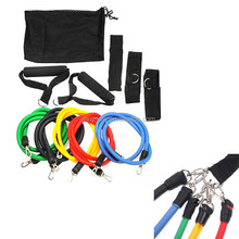 Workout Yoga latex resistance exercise elastic band sets pull rope sports fitness equipment
