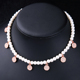 Imitation Pearls Beaded Chain Alloy Drop Choker Necklace 2017 New