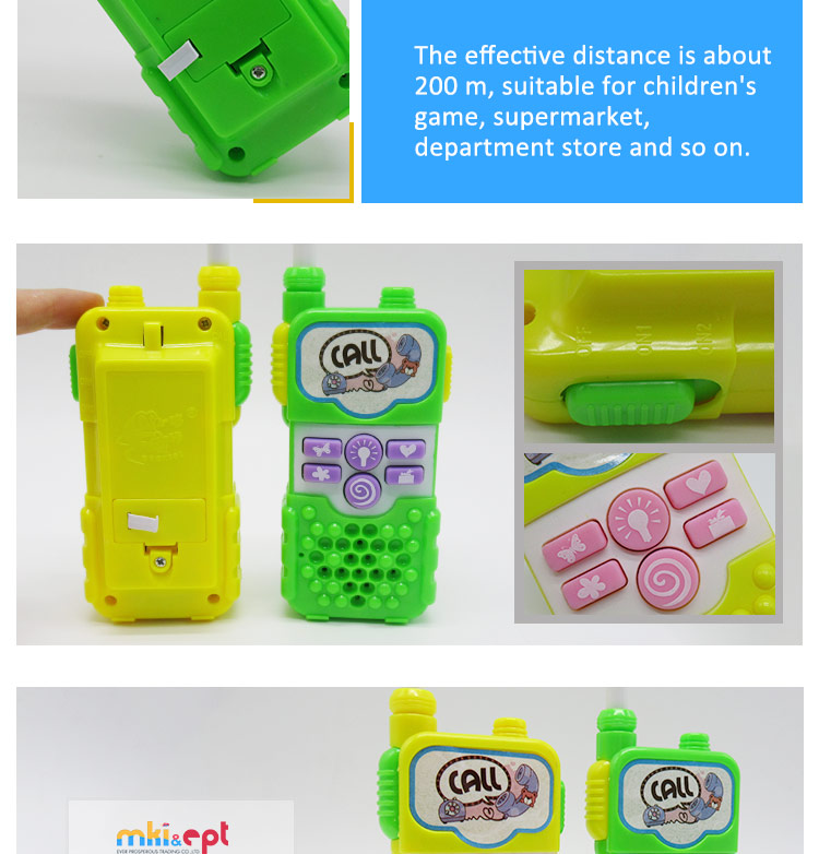 Hot sale walkie talkie battery operated electronic toy noise toy for kids on sale