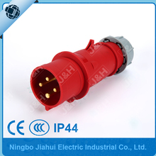 Jiahui supply european plug industrial waterproof 32A 4P IP44 power plug
