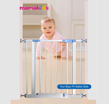 metal adjustable dog and infant safety barrier baby safety gate