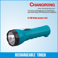 Rechargeable portable torch