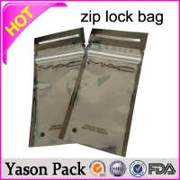 Yason ldpe zip bag shinning silve ziplock three side bags with bottom 1.5g 3.5g 10g bizarro zencense herbal incense ziplock bag