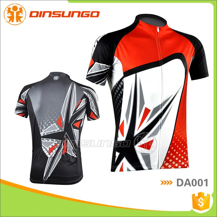 Custom made quick dry 100%polyester bike clothing adult cycling wear dinsungo DA001