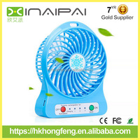 Cool portable rechargeable fan,mini usb fan with led light