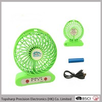 Low price 3 speed usb micro charging small pocket fan