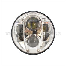 "Pair 7"" Round LED Headlight for 2007-2014 Jeep Wrangler C ree 30w H4 High/Low Beam"